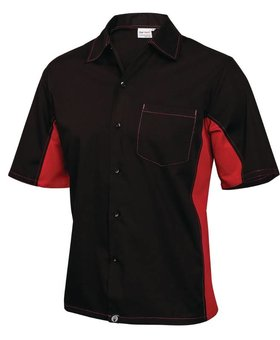 Colour by Chef Works Zwart & rood Chef Works Cool Vent contrast shirt