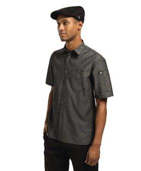 Chef Works Chef Works Detroit zwart denim shirt korte mouw L