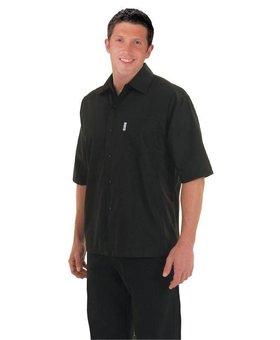 Chef Works Heren Coolvent zwart chef shirt