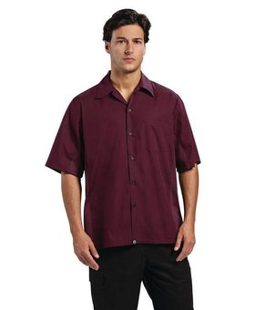 Chef Works Heren CoolVent bordeaux chef shirt