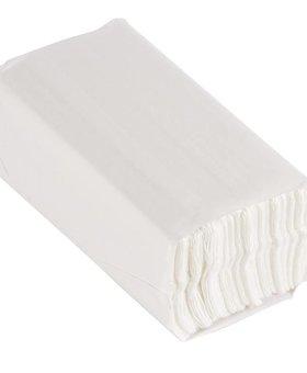 Jantex Jantex wit C-gevouwen handdoeken 2-laags