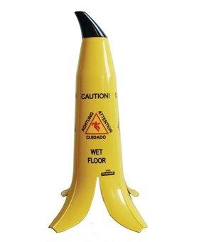 Banaanschil meertalig waarschuwingsbord