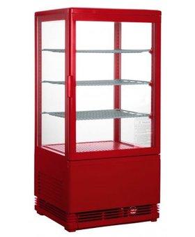 Saro Mini koelvitrine 70ltr rood SC70
