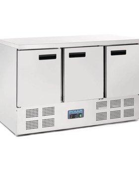 Polar Polar 368ltr GN1/1 RVS 3-deurs koelwerkbank