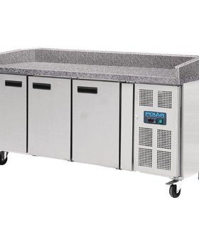 Polar Polar 634ltr patisserie 3-deurs gekoelde werkbank