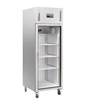 Polar Polar 600ltr RVS glasdeur koelkast enkeldeurs