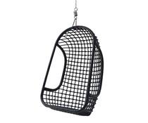 HK living rotan hang stoel zwart