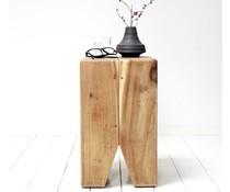 HK living houten kies krukje