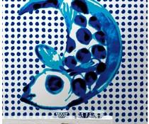 NLXL Behang fisk & prikker