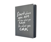 The gift label Notebook starten