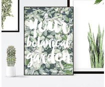 Homemade poster din botanisk have