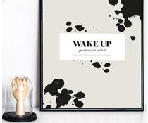 Homemade poster wake up