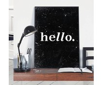 Homemade poster hello