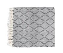 HK living sengetæppe sort / hvid ternet