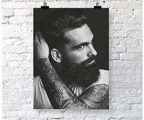Jots poster man tattoo