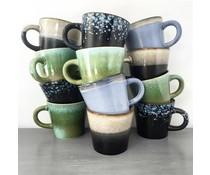 HK living ceramic 70's cappuccino mug set of 4