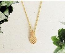 Annet Weelink ananas halskæde guld og sølv