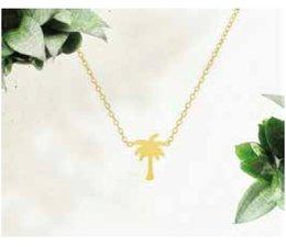 Annet Weelink palme halskæde guld og sølv