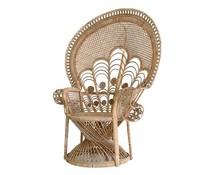 HK living rotan pauw stoel elegant