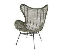 HK living rotan egg chair olijf groen