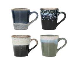 HK living 70 keramiske espresso kopper (sæt af 4)