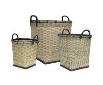 HK living bambus kurve sæt med 3