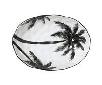 HK living 'Jungle' porcelæn fad palmer