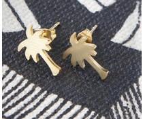 Annet Weelink Annet Weelink palme øreringe guld og sølv