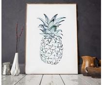 Annet Weelink plakat ananas 2 formater