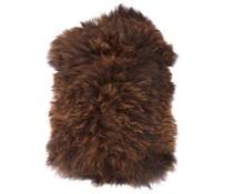 Storebror Fåreskind brun uld 100x90cm