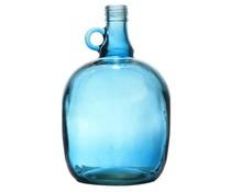 Storebror Vase blå transparent glas
