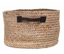 Storebror Opbevaring Basket af hamp med læder håndtag