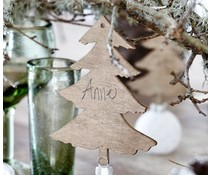 House Doctor houten kerstboom hanger