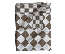 HK living tablecloth brown 140x200