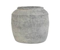 HK living Cement urtepotte L