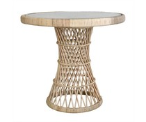 HK living Rotan side table