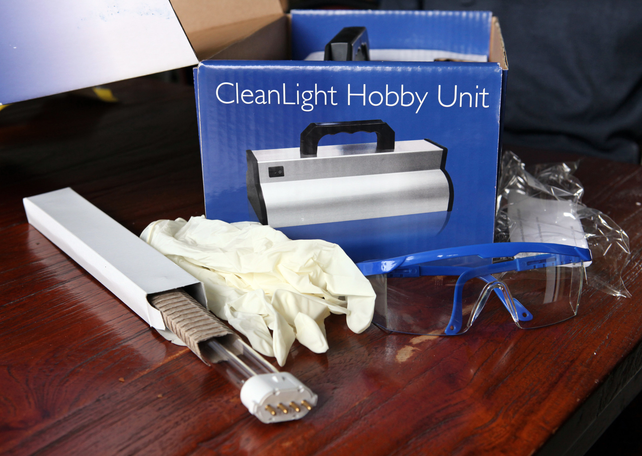 CleanLight safety glasses and gloves
