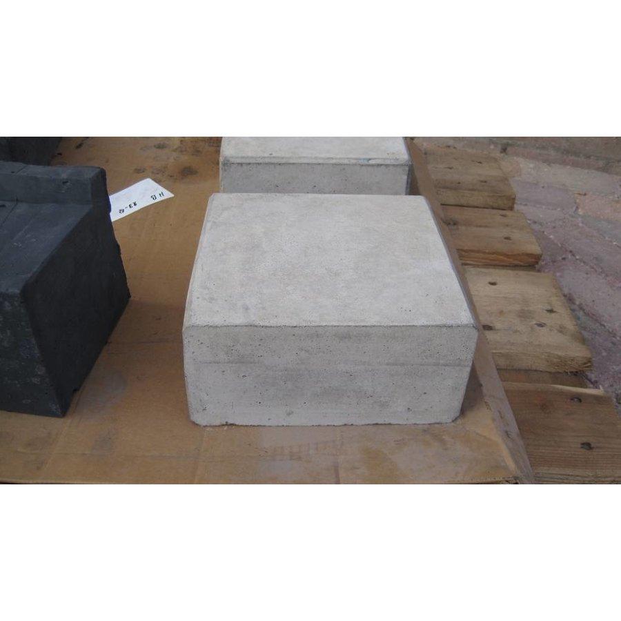 Hoeksteen 21x21cm grijs