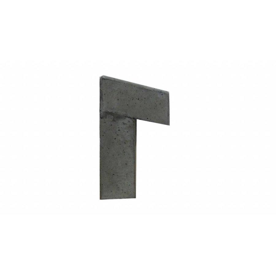 Inbouwbrievenbus gleuf van beton