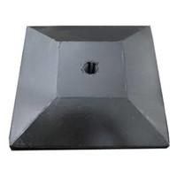 paalmutsen met een plat stuk + gat 75x75cm