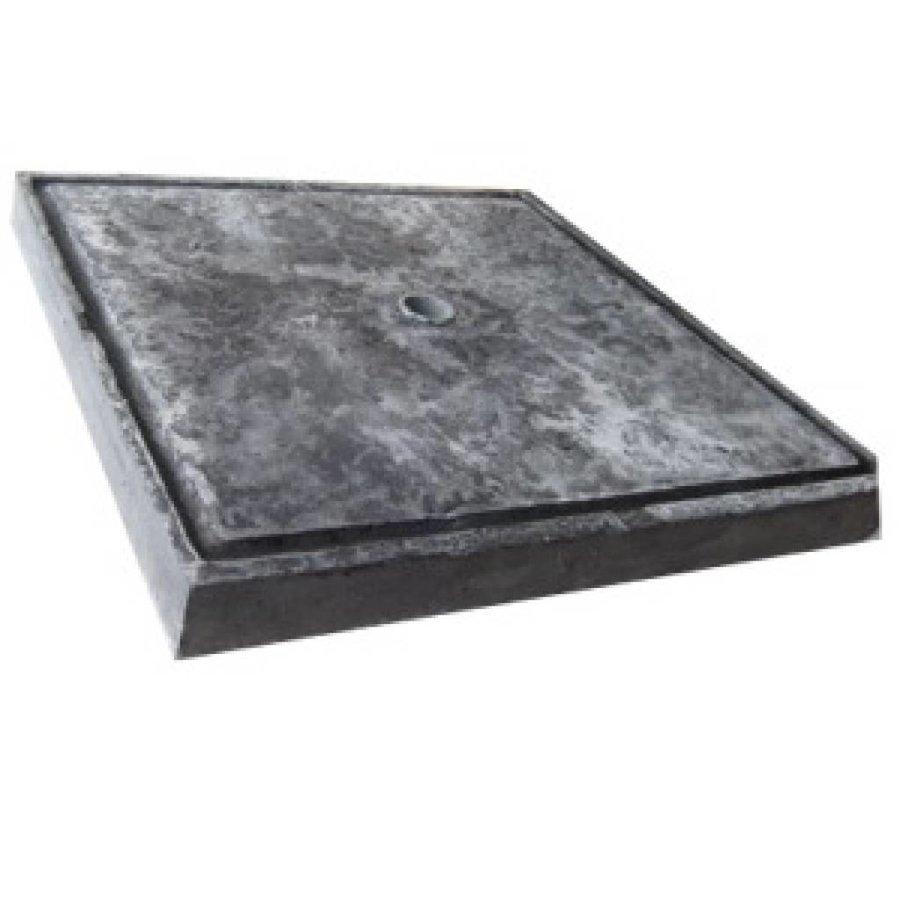 Paalmutsen 65x65cm met plat stuk en gat