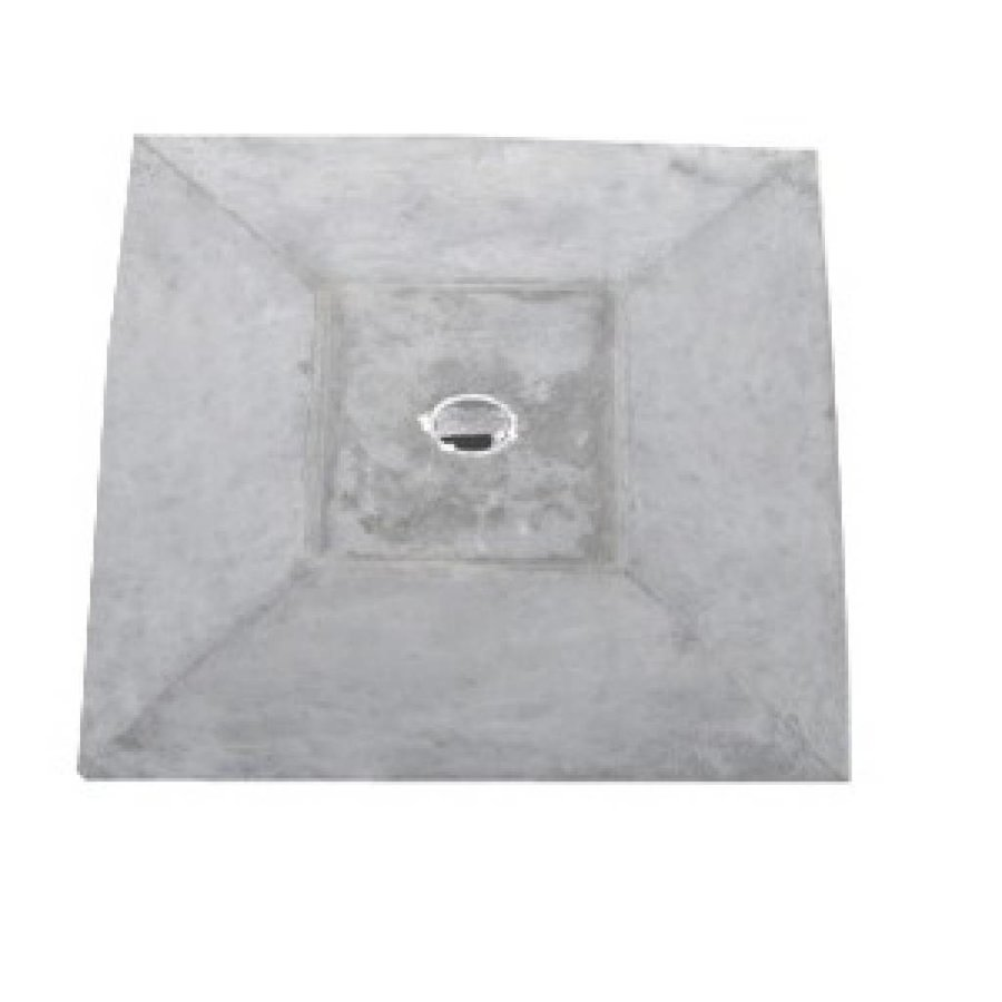 paalmutsen met een plat stuk + gat 60x60cm