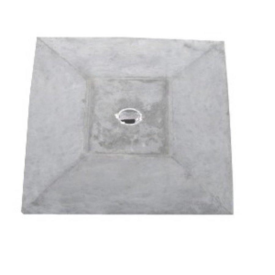 Paalmutsen met een plat stuk + gat 24x35cm
