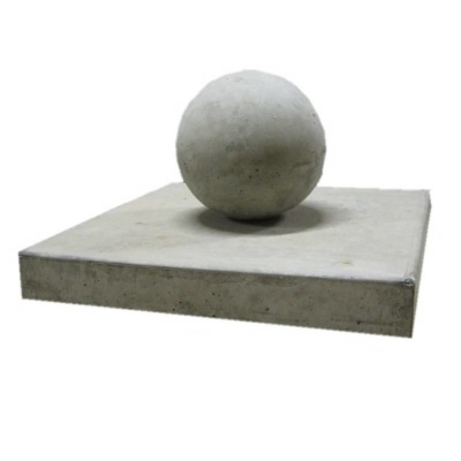 paalmutsen vlak 35x35cm met een bol van 12cm