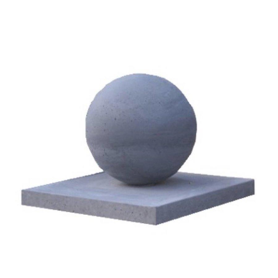 Paalmutsen vlak van 37x37cm met een bol van 12cm