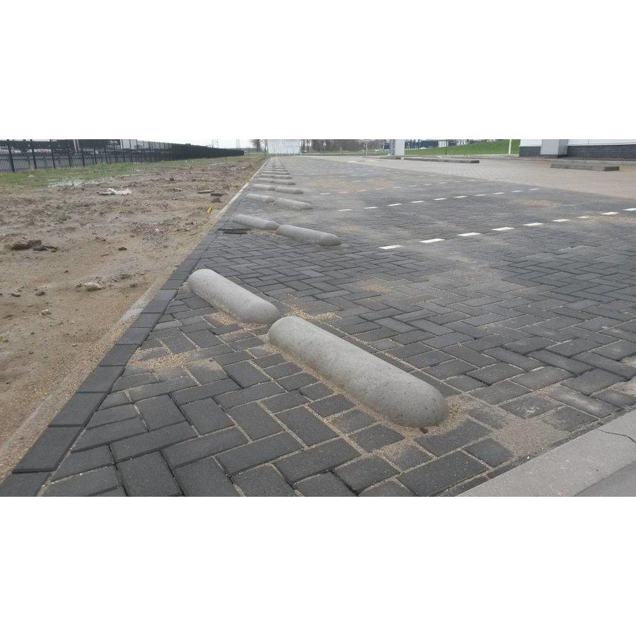 Varkensrug beton 2 kanten rond grijs