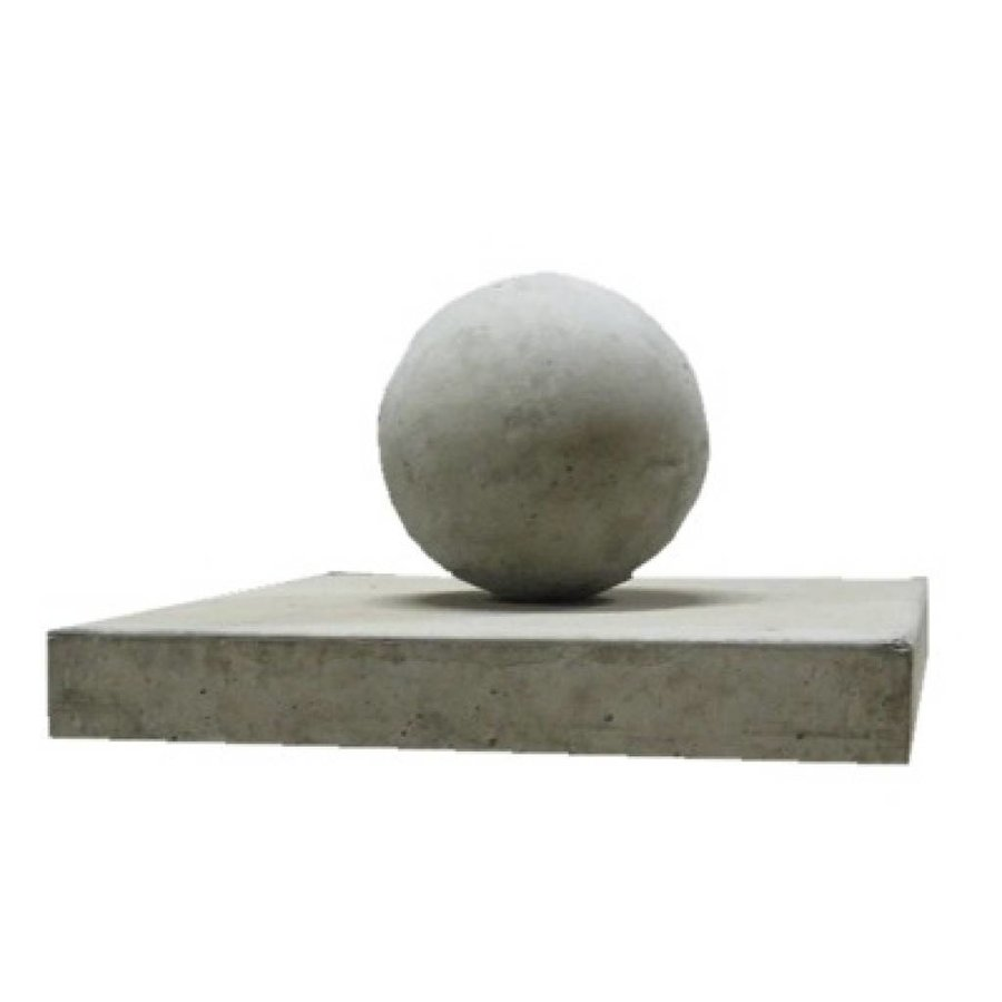 paalmutsen vlak 90x90cm met een bol 50cm