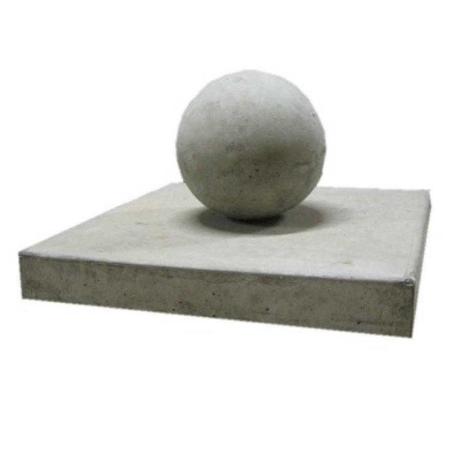 Paalmutsen vlak 37x37cm met een bol 14cm