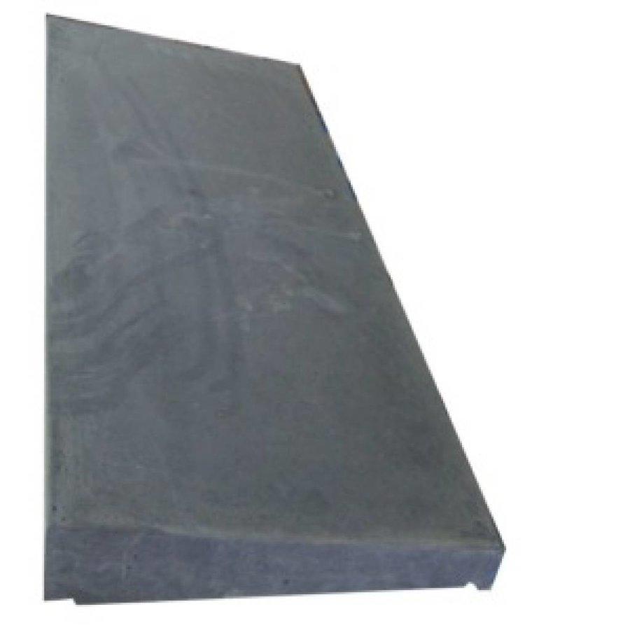 Muurafdekkers 1-zijdig, antraciet 35cm x 100cm