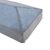 Muurafdekkers 2-zijdig, grijs 50cm x 100cm